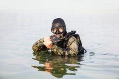 Navy SEAL frogman Stock Image