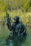 Navy SEAL frogman royalty free stock photo