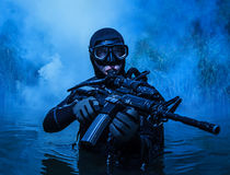 Navy SEAL frogman Stock Images