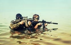 Navy SEAL frogmen Stock Images