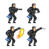 Navy Seal Game Animation Sprite. Vector Illustration of Navy Seal Game Animation Sprite Stock Photo