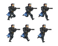 Navy Seal Game Animation Sprite. Vector Illustration of Navy Seal Game Animation Sprite Royalty Free Stock Photo