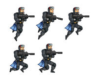 Navy Seal Game Animation Sprite. Vector Illustration of Navy Seal Game Animation Sprite Royalty Free Stock Photography