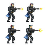 Navy Seal Game Animation Sprite. Vector Illustration of Navy Seal Game Animation Sprite Royalty Free Stock Images
