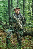 Navy SEAL Taliban hunter. Member of Navy SEAL Team also known as Taliban hunter with weapons Stock Photography