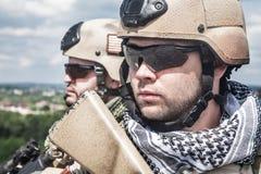 Navy Seals in actie stock afbeelding