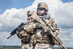 Navy SEALs in action Stock Photography