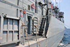 Navy ship. Royal Thai navy ship at Surin island national park, Thailand Stock Photos