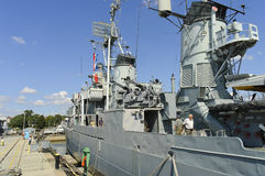 Navy ship destroyer USS Cassin Young royalty free stock image