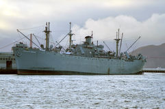 Navy ship near Pier 39, San Francisco Royalty Free Stock Photography