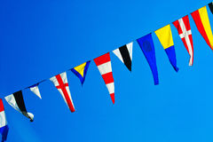 Navy ship signal flags. Royalty Free Stock Images