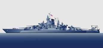 Navy ships. Military navy ships Tennessee.Vector illustration Royalty Free Stock Photos