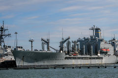 Navy Ships in Port Royalty Free Stock Photo