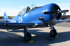 Navy single engine low wing aircraft Royalty Free Stock Photos