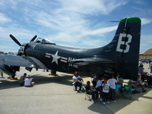 Navy Skyraider stock photography