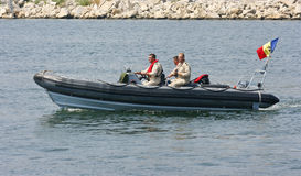 Navy speed boat Royalty Free Stock Photos