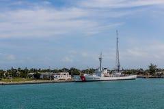 Navy Station with Coast Guard Ship Royalty Free Stock Photo