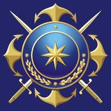 NAVY style badge Stock Photography