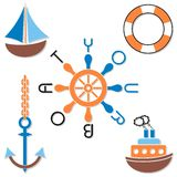 Navy symbols Royalty Free Stock Photos