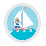 Navy teddy bear  icon Stock Image