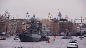 Navy Among Urban Areas stock video