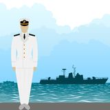 Navy US Army officer Stock Photo