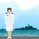 Navy US Army officer-1 Stock Image