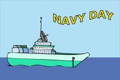 Navy warship image. Stock Images