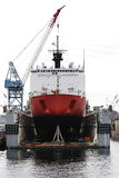 Navy yard and cargo ship Royalty Free Stock Photography