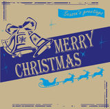 Navybluevintagechristmas Stock Photography
