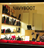 Navyboot store front and showcase Royalty Free Stock Photos