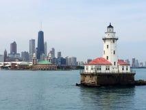 Navypier-Leuchtturm Stockbilder