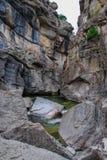 Nawadnia rzeźbiącego jar od Dearborn rzeki w Montana zdjęcia stock