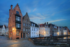 Nawadnia Spiegelrei, Bruges Obrazy Royalty Free