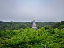 Nawamayteedon tempel, Doi Inthanon nationalpark, Chiang Mai arkivfoton