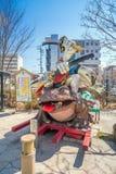 Nawate Dori街在马塔莫罗斯日本 图库摄影