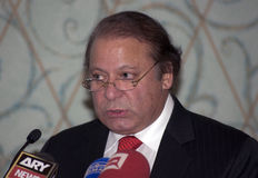 Nawaz Sharif the current Prime Minister of Pakistan Royalty Free Stock Photography