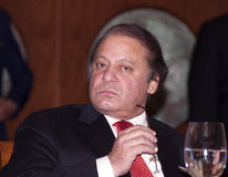 Nawaz Sharif the current Prime Minister of Pakistan Royalty Free Stock Images