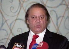 Nawaz Sharif den pakistanska aktuella premiärministern Royaltyfria Foton