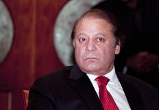 Nawaz Sharif le premier ministre actuel du Pakistan Photo libre de droits