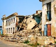 Nawerking van aardbeving Stock Fotografie