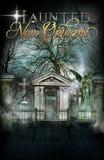 Nawiedzający Nowy Orlean tła Cmentarniany plakat Obraz Stock