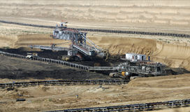 Nawierzchniowa kopalnia węgla zdjęcie royalty free
