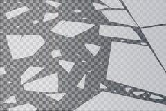 Nawierzchniowa tekstura pęka na lodzie, odosobnionym na przejrzystym tle również zwrócić corel ilustracji wektora potłuczone szkł royalty ilustracja