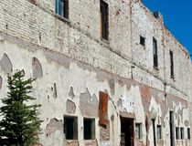 Nawierzchniowe tekstury na starym historycznym budynku Obrazy Stock