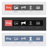 Nawigacj ikony dla blogu Fotografia Stock