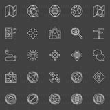 Nawigacj kreskowe wektorowe ikony Zdjęcia Stock