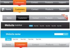 Nawigacja menu Zdjęcie Stock