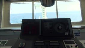 Nawigacja most statk?w kapitany toczy, kontrola statek zdjęcie wideo