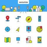 Nawigacja w mieście ilustracji